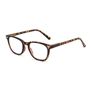 4eed3157a58 Retro Reading Glasses Spring Hinge Tortoiseshell Eyeglasses Readers Men  Women Eyewear for Reading +1.25