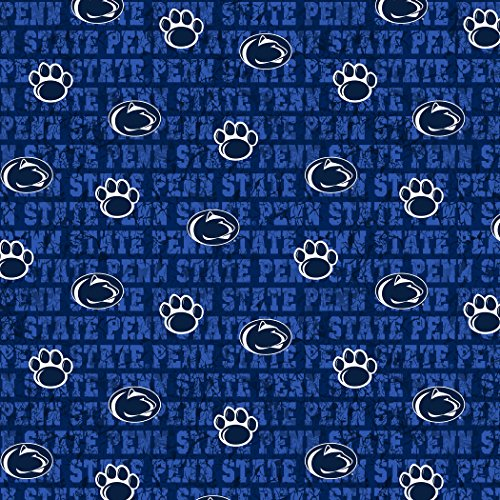 Penn State College Fleece - PENN STATE DISTRESSED COTTON FABRIC-PENN STATE COTTON FABRIC WITH DISTRESSED DESIGN