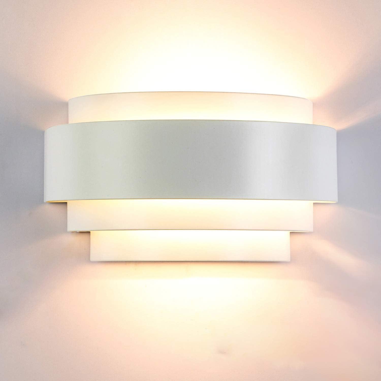 LED Modern Crystal Wall Lamp Sconce Light Bulb Bedroom Hallway Lighting Fixture