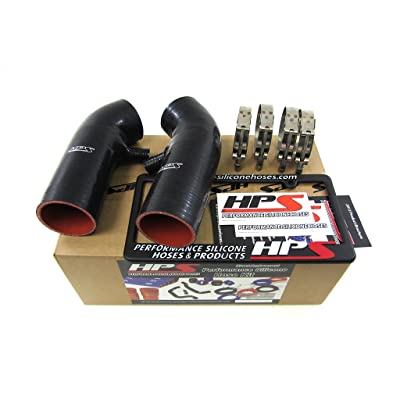 HPS 87-68426-BLK-2 Black Silicone Air Intake Hose (Post MAF Tube): Automotive