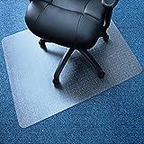 Marvelux 30'' x 48'' Vinyl (PVC) Rectangular Chair Mat for Very Low Pile Carpets | Transparent | Multiple Sizes