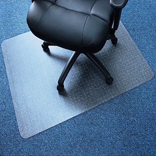 Marvelux 30'' x 48'' Vinyl (PVC) Rectangular Chair Mat for Very Low Pile Carpets | Transparent | Multiple Sizes by Marvelux