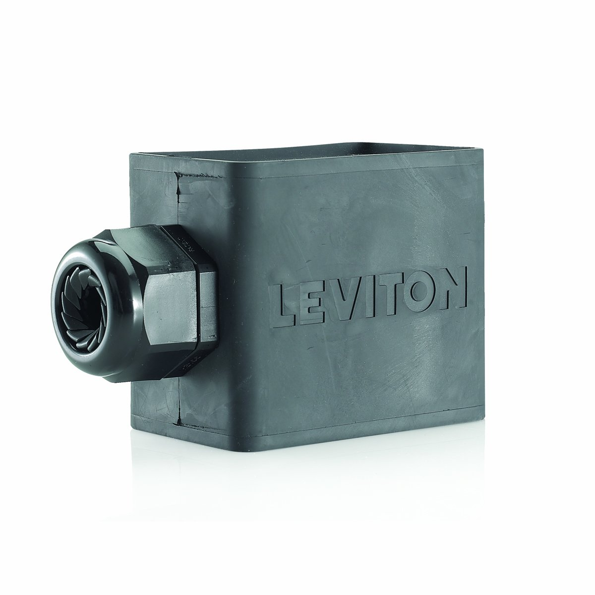 Cable Diameter 0.590-Inch 1.000-Inch Standard Depth Pendant Style Single-Gang Leviton 3059-2E Portable Outlet Box Black