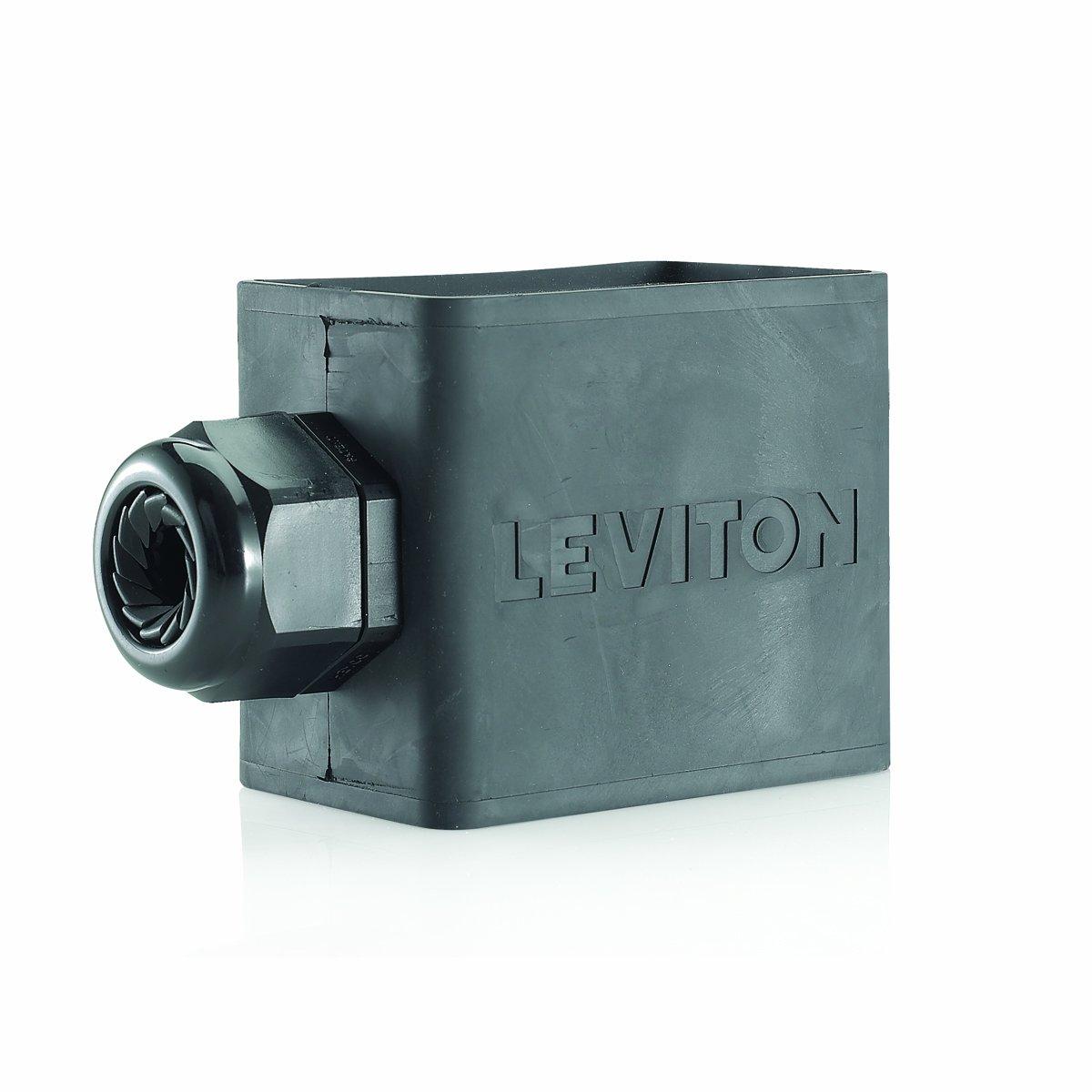 Leviton 3059-2E Portable Outlet Box, Single-Gang, Standard Depth, Pendant Style, Cable Diameter 0.590-Inch 1.000-Inch, Black
