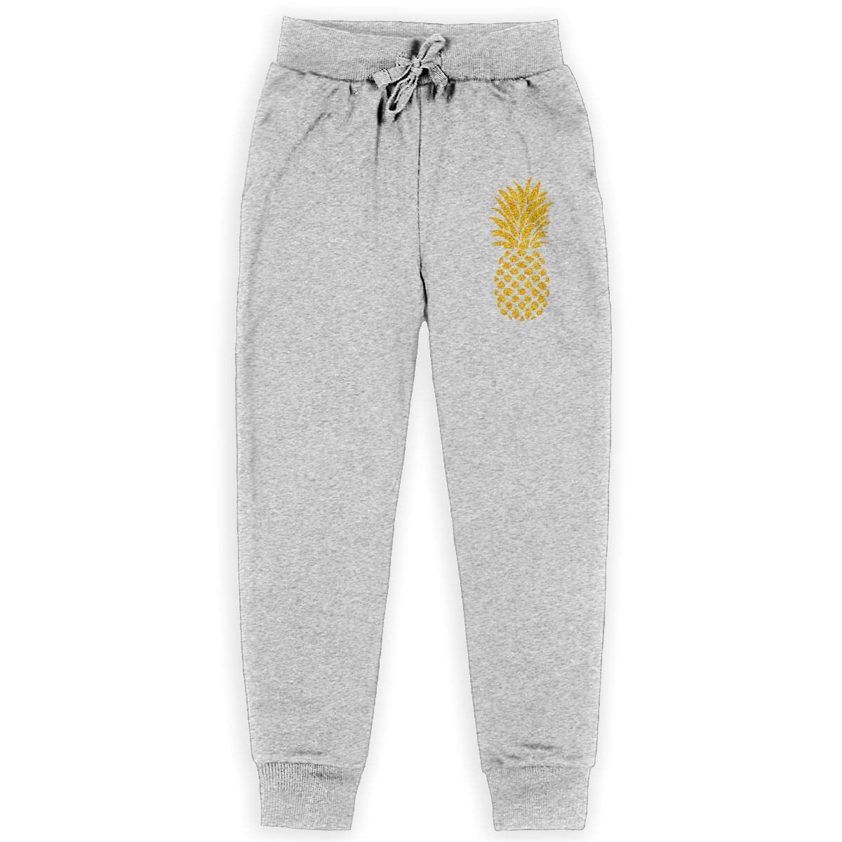 Carrteid Pineapple Printed Boys Fleece Pant Jogger Fleece Pants