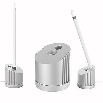 MoKo Soporte de Carga para Apple Pencil, Portátil Cargador de Aleación de Zinc y Silicona, Carga de Base del Soporte para Apple Pencil 1 (NO Adapto ...