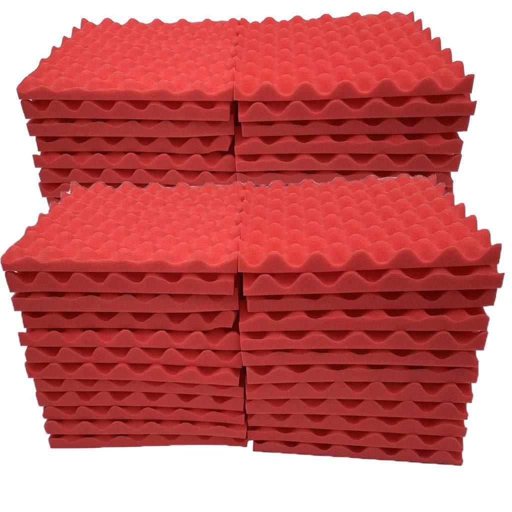 Soundproof Foam, 48Pcs Acoustic Foam Panel Sound Stop Absorption Sponge Studio KTV Soundproof (A)