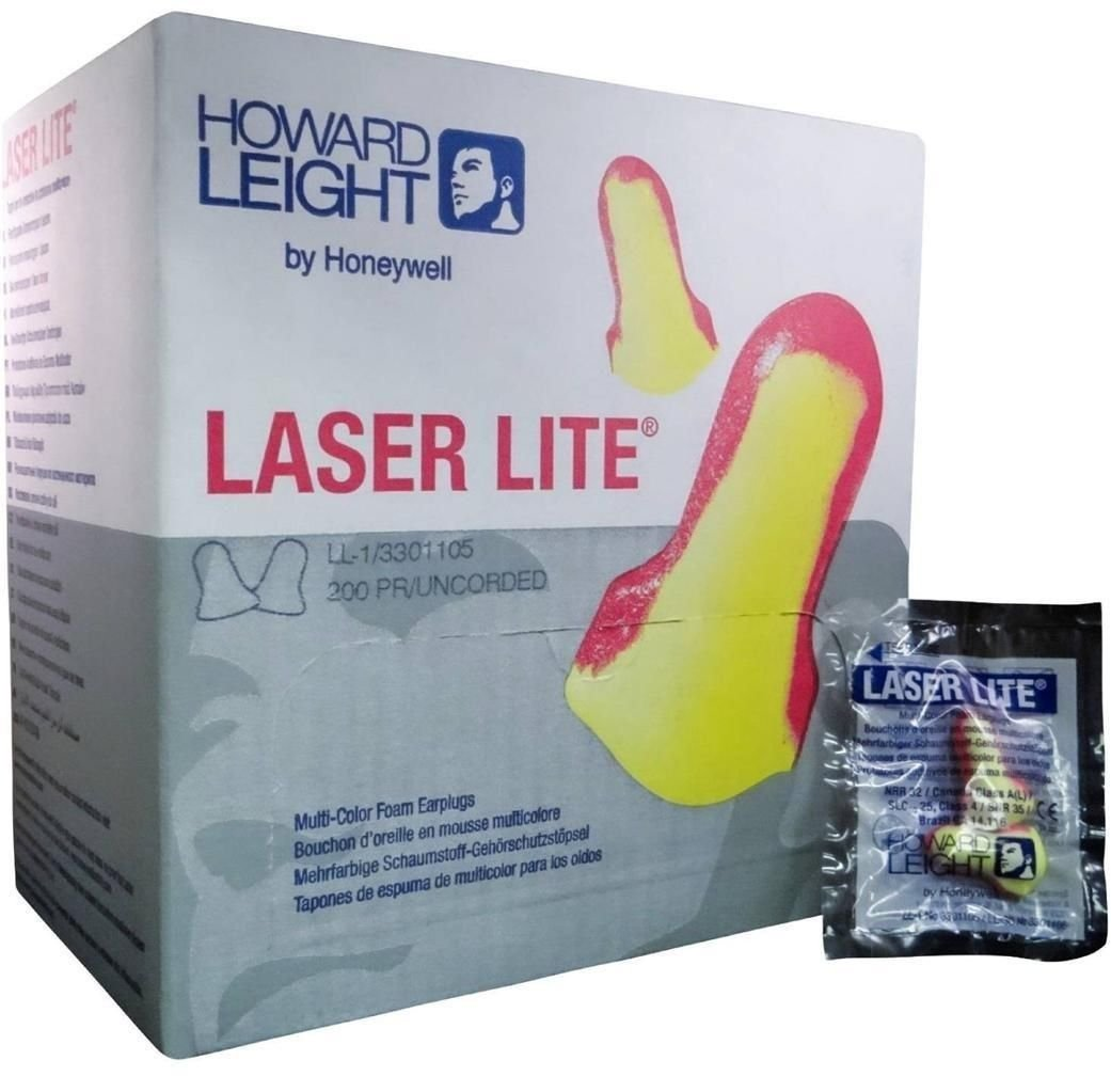Howard Leight Laser Lite Foam Earplugs No Cords - MS92260 (5 Box)