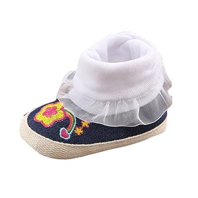 2cebacf7a SamMoSon Ropa para bebés niño Primeros Zapatos para niñas Bebé Infantil  Niña Niña Botas De Nieve Suela Blanda Pre-Walker Zapatos De Cuna Db   13   Amazon.es  ...
