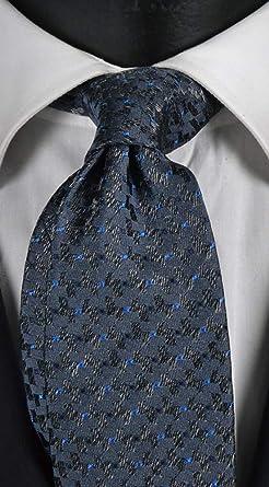 Corbata hombre gris y azul con micro fantasía cambiante azul y ...