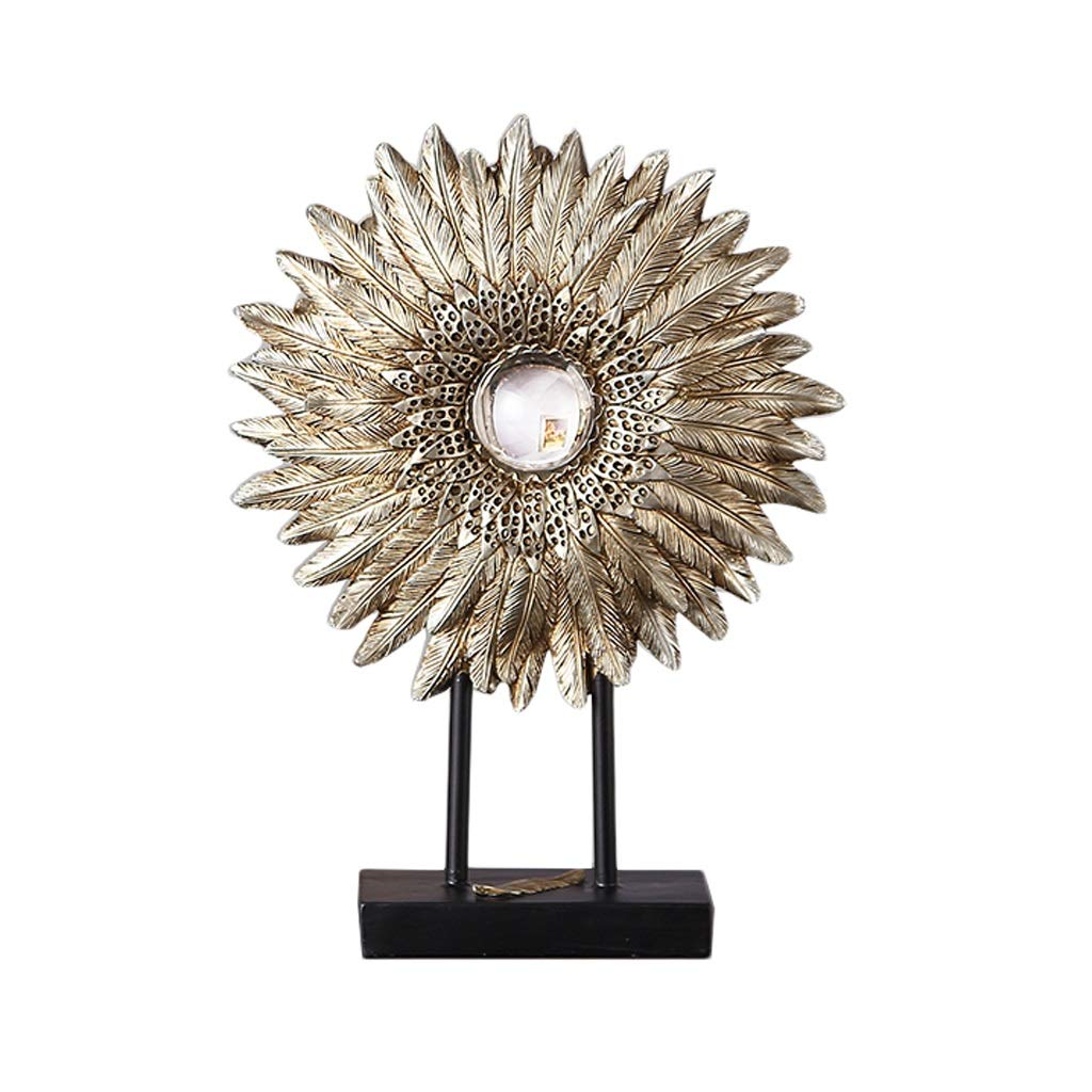 YULAN Decoration Creative Modern Light Luxury Feng Shui Lucky Soft Decoration Furnishings Living Room American Home Decoration Ornaments (Color : Gold, Size : 34cm10cm48cm)