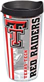 Tervis 1221273 Texas Tech Red Raiders College Pride Tumbler with Wrap and Black Lid 16oz, Clear