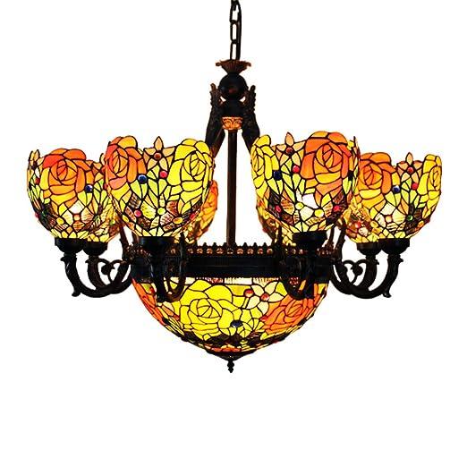 Amazon.com: Makenier clásico Estilo Tiffany vidrieras deep ...
