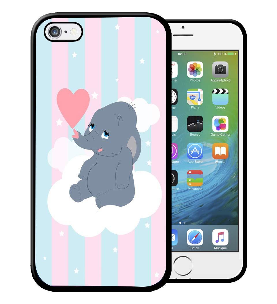 Coque iPhone 4S 5S SE 5C 6S 7 8 Plus X XS MAX XR Dumbo Disney Cute ...