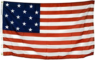 product image for 3x5' Star Spangled Banner 15 Star 15 Stripe Flag, Printed All Weather Nylon Outdoor Flag, Made in The USA