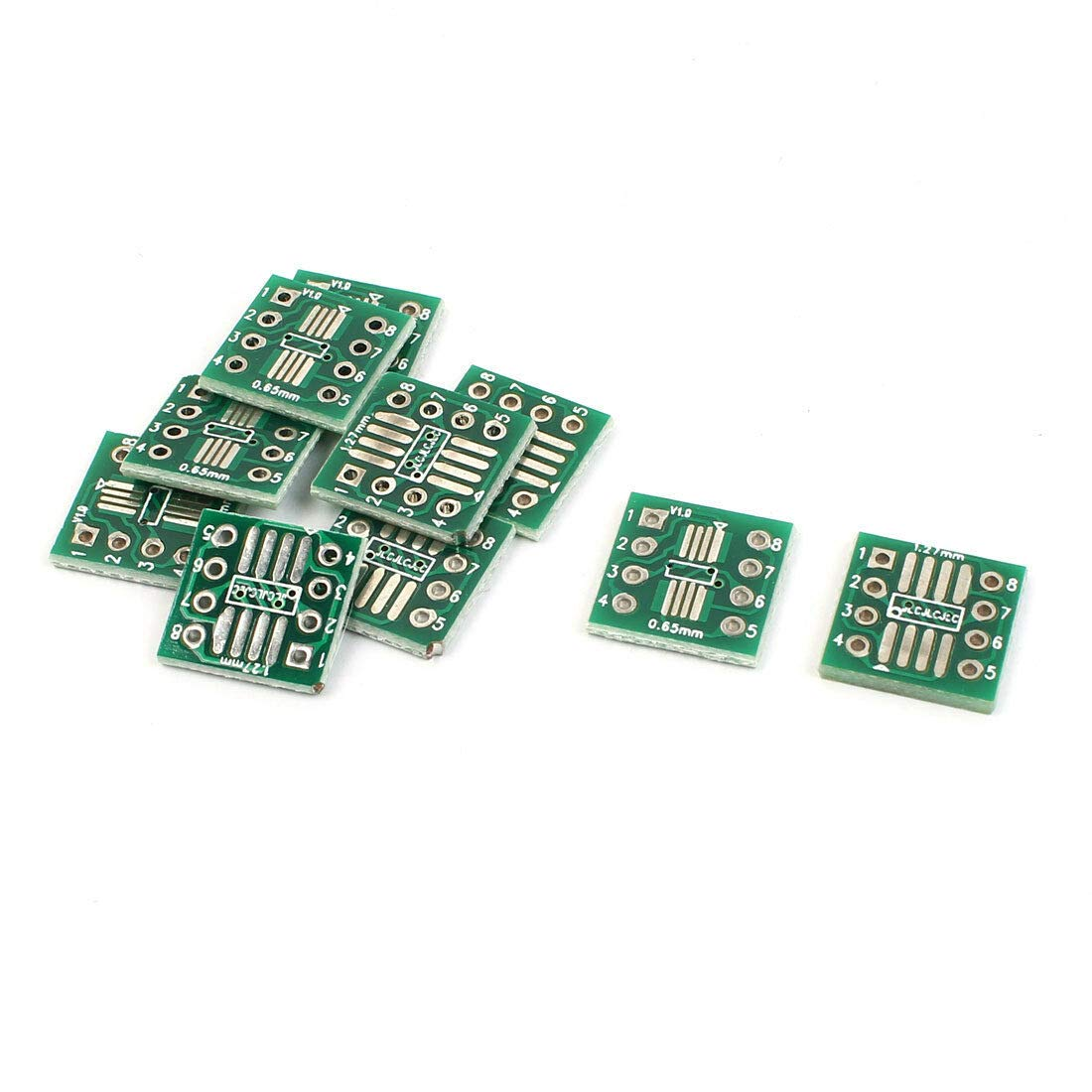 SODIAL 20Pcs Sop8 So8 Soic8 to Dip8 Interposer Board PCB Board Adapter Plate by SODIAL (Image #3)