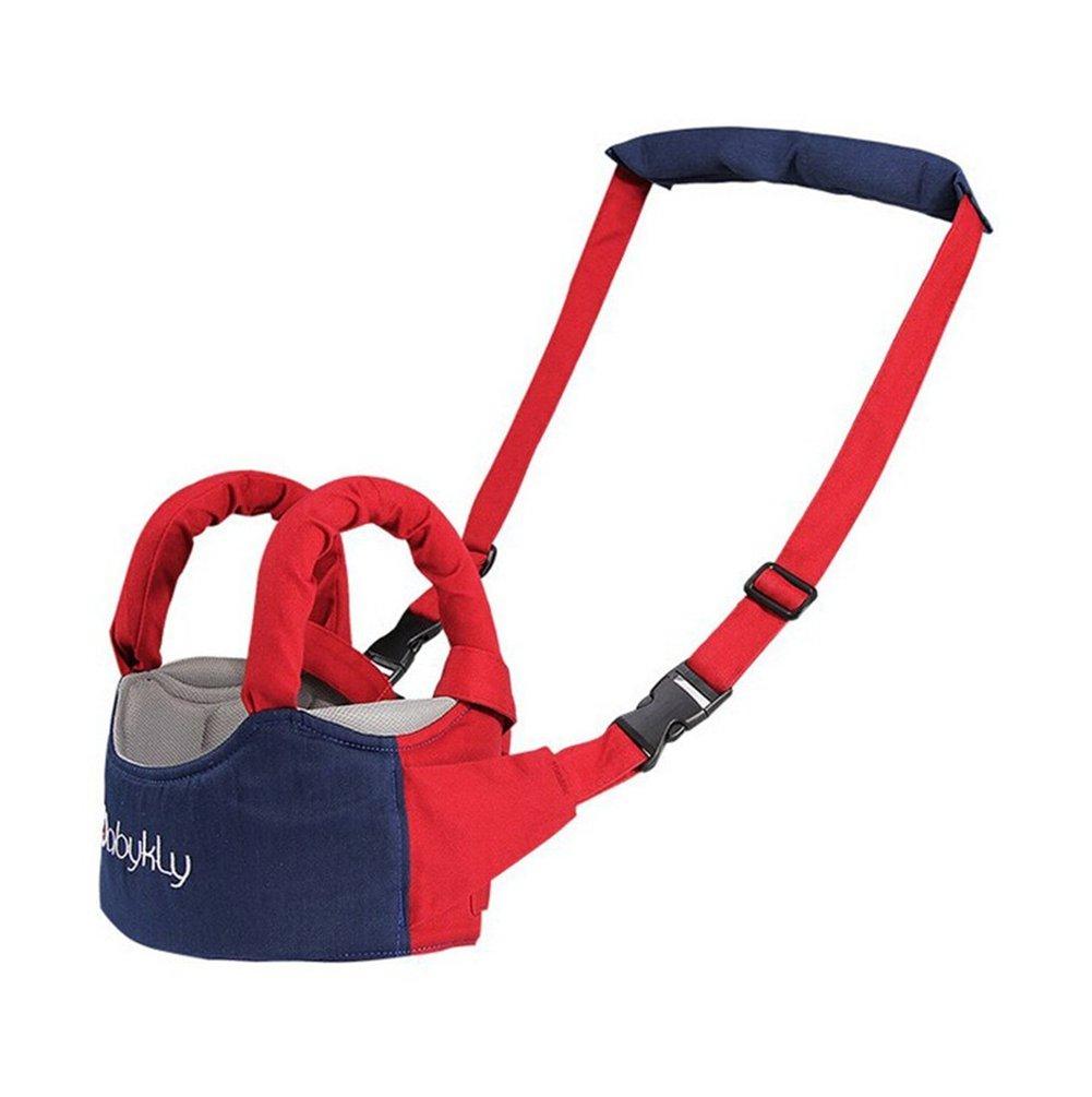ZEAMO Handheld Baby Walker Toddler Walking Helper Safety Harnesses Learning Assistant (Blue)