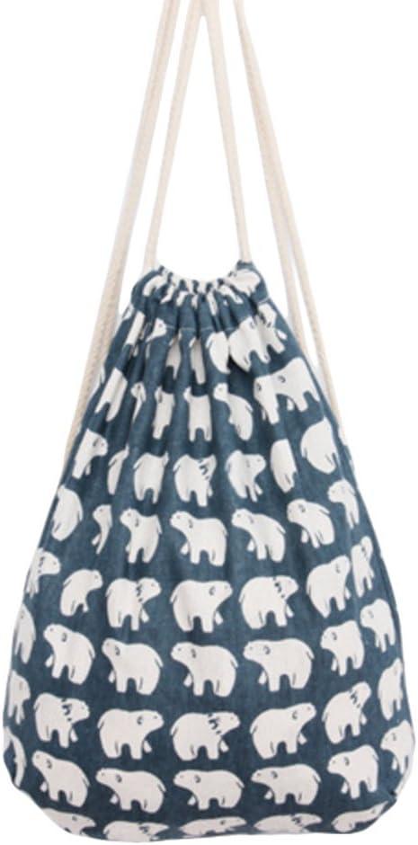LAAT Bolsa con Cuerdas Mujer, de Material de Lona, Ideal para ...