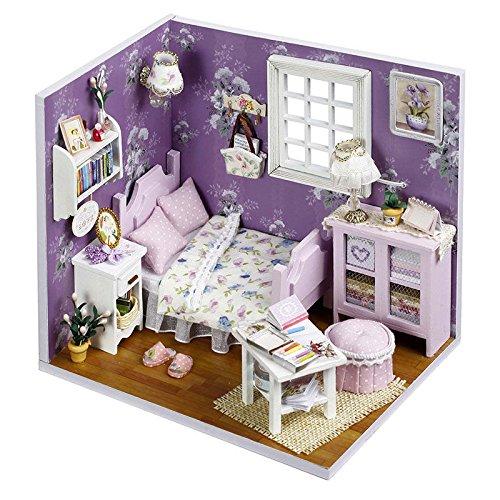 merssavo Mini BeautyドールハウスDIY木製モデルハンドメイドMiniセットギフトwith Mini Lid for Children for merssavo B07CQ6FGMV, フィットネスショップFIT-IN:40f5a899 --- alumnibooster.club