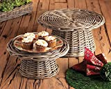 NORMANDY FOOD RISERS S/2, 14.25x14.25x7, 17x17x9 Inches