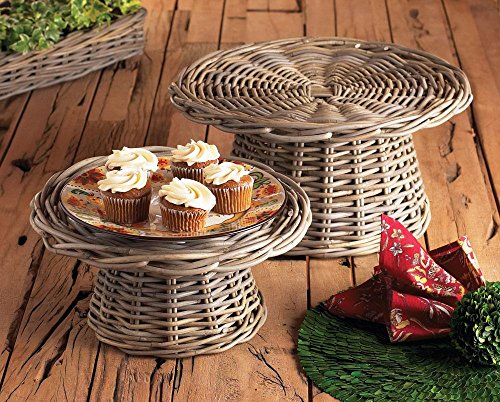 NORMANDY FOOD RISERS S/2, 14.25x14.25x7, 17x17x9 Inches by NAPA Home & Garden
