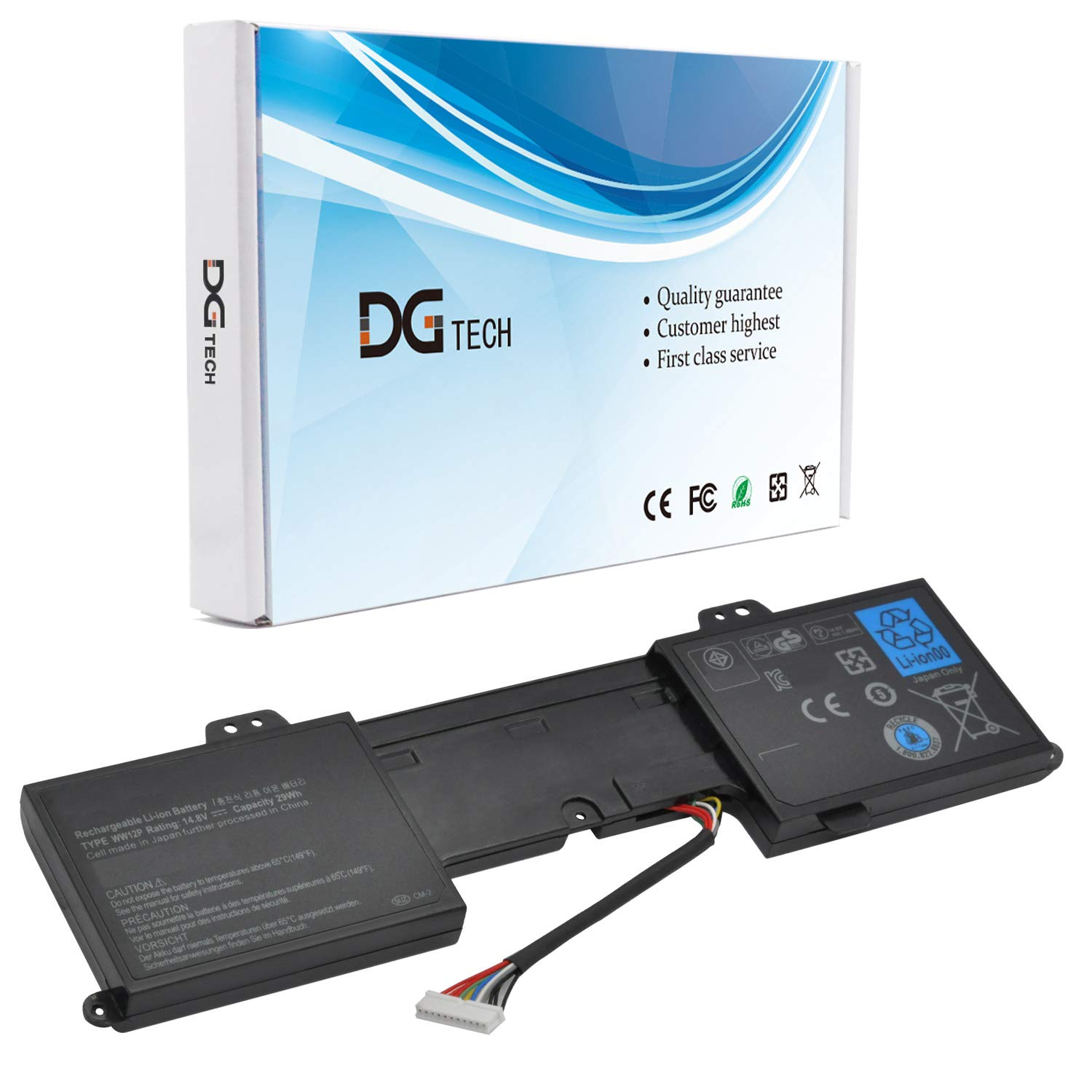 Bateria Ww12p Para Dell Inspiron Duo 1090 Tablet Pc Convertible 9yxn1 Tr2f1 14.8v 29wh