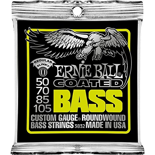 - Ernie Ball Coated Bass Regular Slinky Set, .050 - .105
