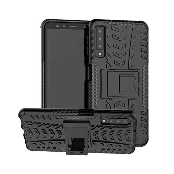 check out 4f032 f286a Samsung Galaxy A7 (2018) Case, CaseExpert Heavy Duty Shockproof Rugged  Impact Armor Hybrid Kickstand Protective Cover Case for Samsung Galaxy A7  ...