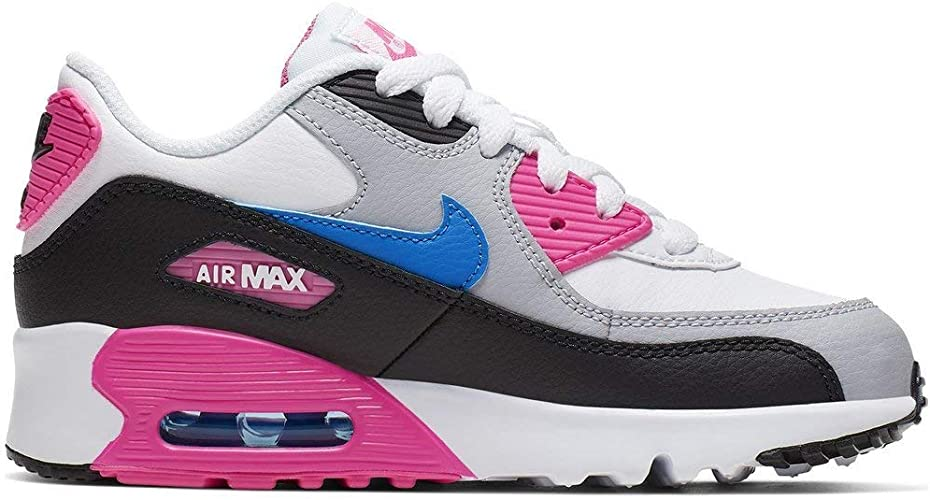 Nike Air MAX 90 LTR (PS), Zapatillas de Running para Niñas, Multicolor (White/Photo Blue/Black/Pink Blast 107), 34 EU: Amazon.es: Zapatos y complementos