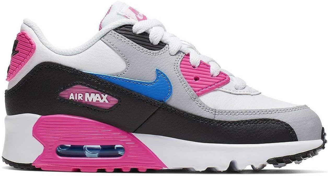 Nike Air MAX 90 LTR (PS), Zapatillas de Running para Niñas, Multicolor (White/Photo Blue/Black/Pink Blast 107), 34 EU: Amazon.es: Zapatos y complementos