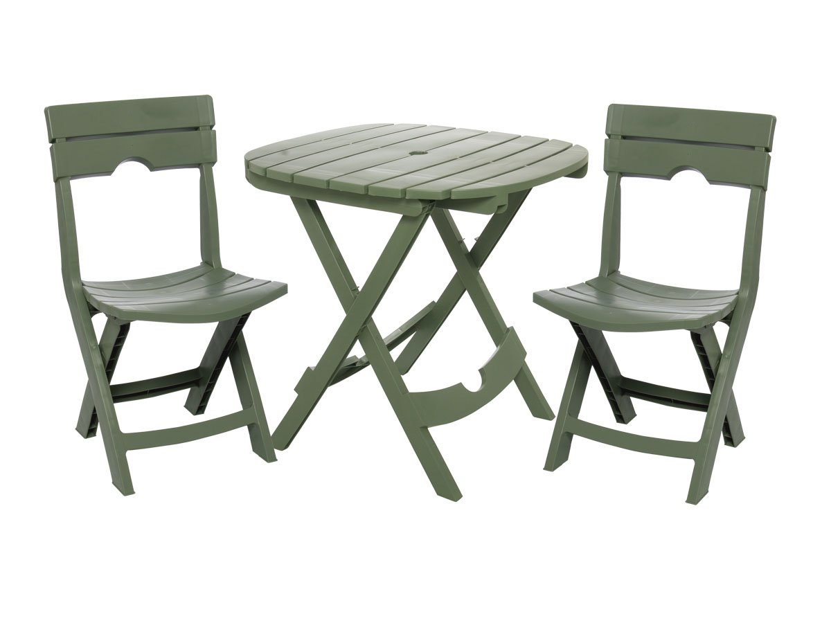 amazoncom adams manufacturing 8590 01 3731 quik fold cafe bistro set sage garden outdoor - Garden Furniture 3 Piece