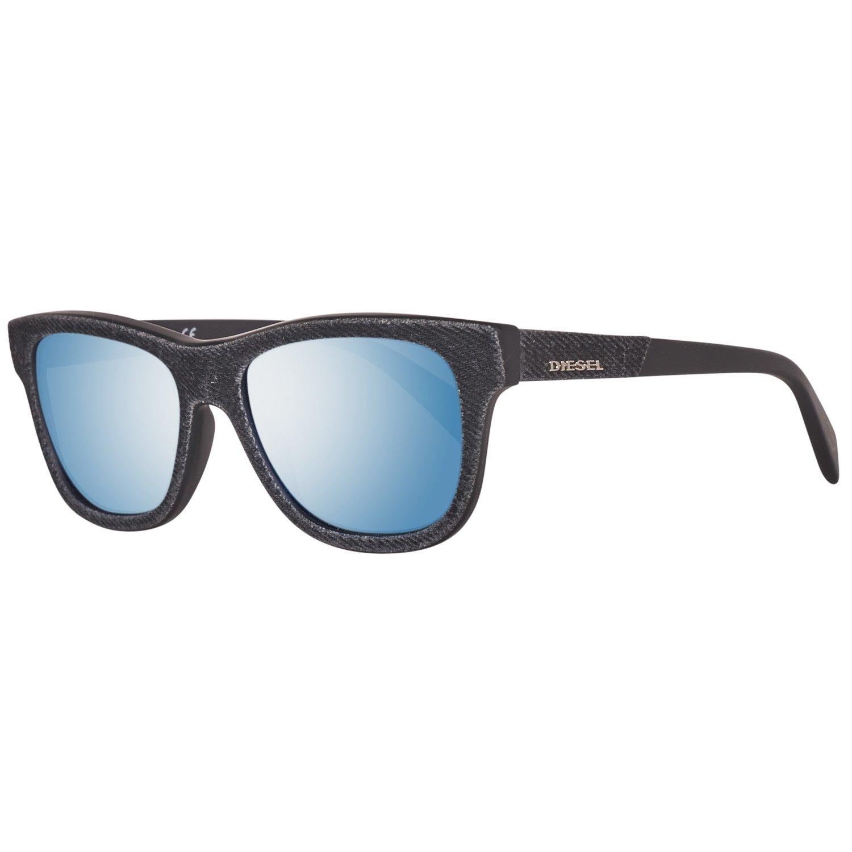 783163e656cf Amazon.com  Diesel Acetate Frame Blue Mirror Lens Unisex Sunglasses  DL01115201X  Clothing