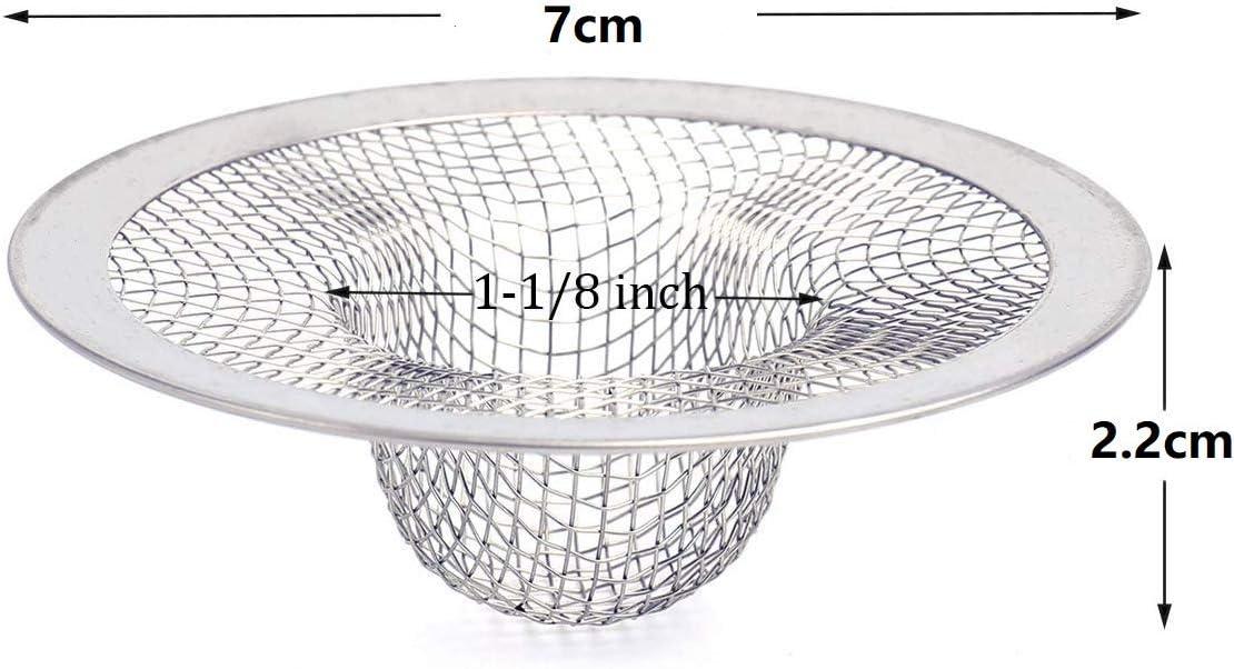 Balcon 7 cm Lawei Lot de 30 filtres en Acier Inoxydable pour /évier de Cuisine Salle de Bain