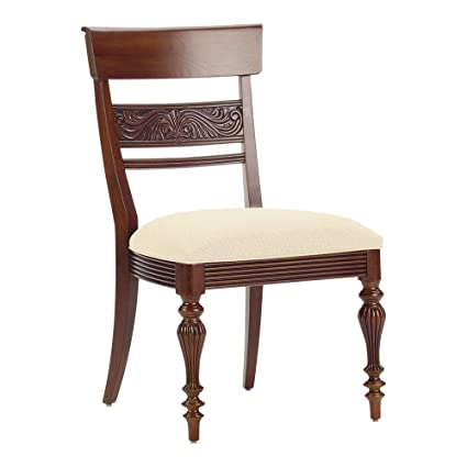 Amazon Com Ethan Allen Mackenzie Side Chair Caraway Cayman Cream