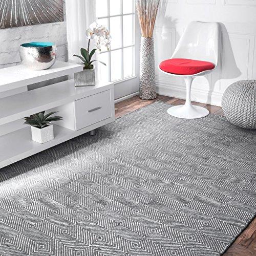 - nuLOOM Hand Tufted Agoja Wool Rug, 4' x 6', Grey