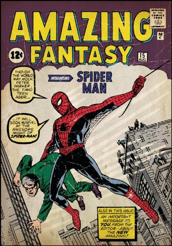 Roommates Rmk1658Slg Spiderman No1 Peel And Stick Comic Book Cover