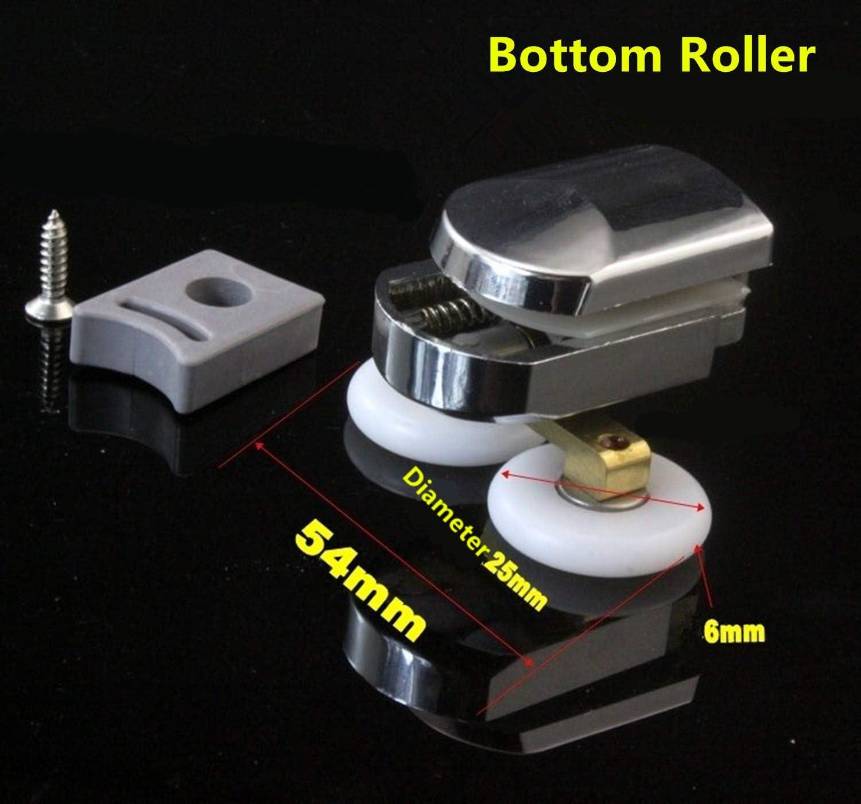 Heim- und Badezimmer-Ersatzteile Zinklegierung Nisorpa Set mit 4 Rollen f/ür Duscht/üren 25 mm Raddurchmesser