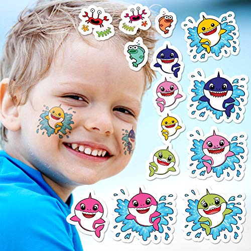 Baby Sharks Party Pack | Temporary Tattoos | 14 Total ()
