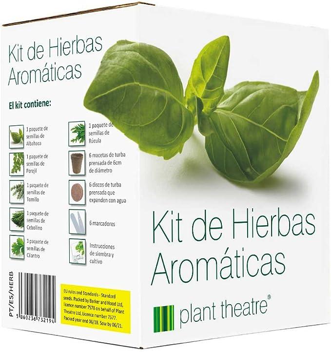 Plant Theatre Kit de Hierbas Aromáticas - 6 hierbas diferentes ...