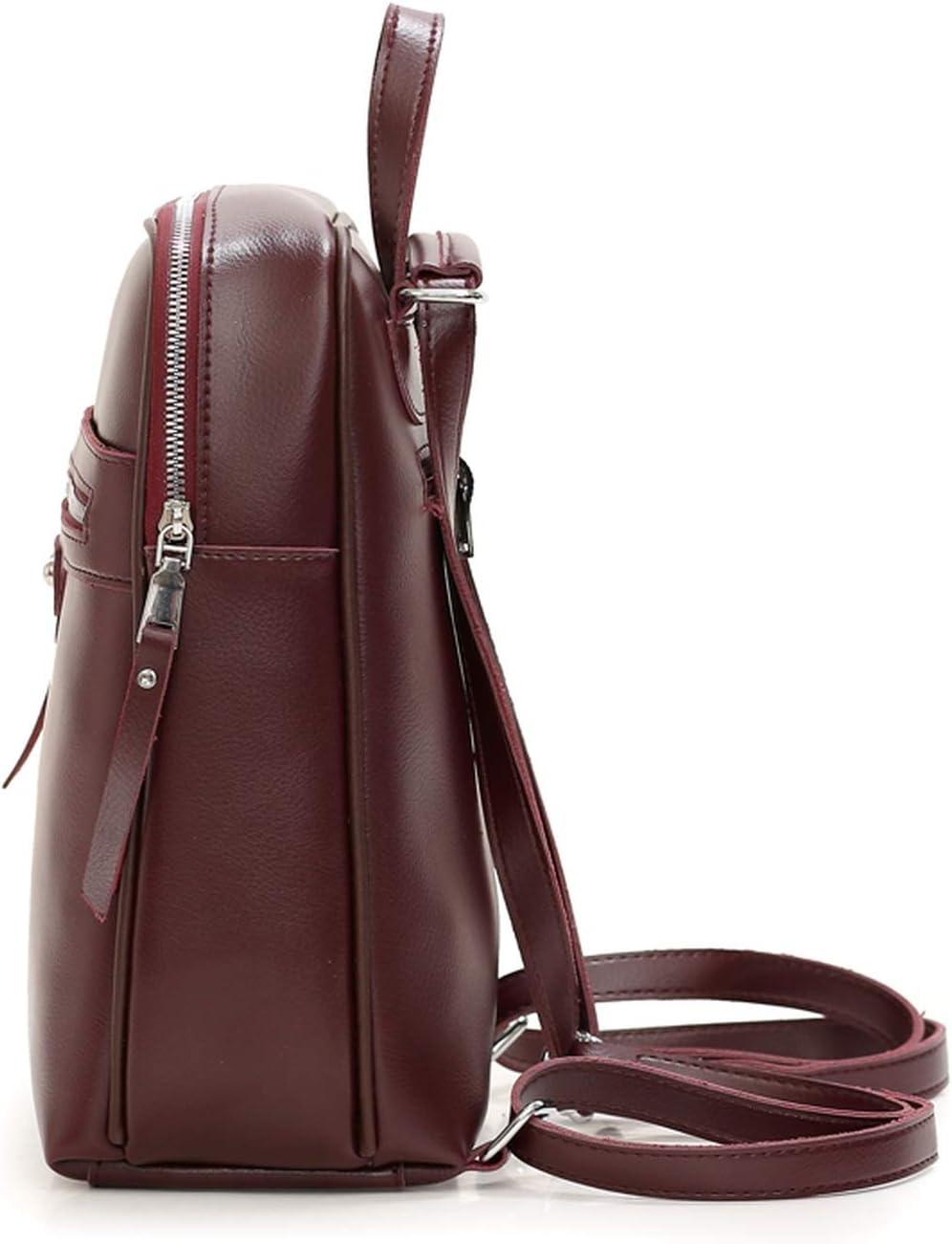 Vintage Women Backpack Leather WomenS Shoulder Bag Large Capacity School Bags For Teenagers Girls Leisure School Backpack,Black,29Cm 13Cm 31Cm
