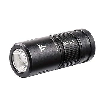 LED Torch Lamp Pocket USB Rechargeable Keychain Mini Keyring Camping Flashlight