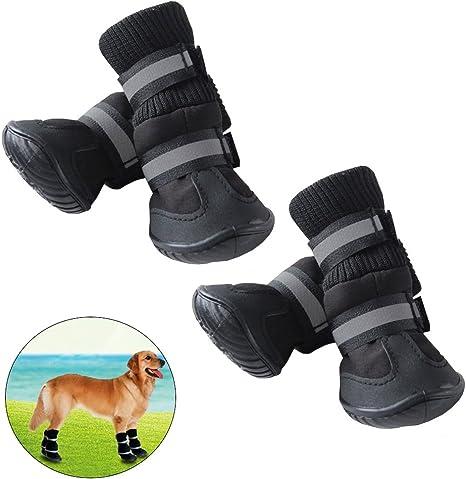 Pluie Taille De Chaussures Antidérapant Neige Popetpop Pour Bottes Protection Mnoir Chien Animaux Compagnie VGUSMpqz