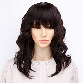 Bob Curly Wig Synthetic Short Black Wig with