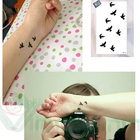 Tatuaje Tattoo temporalmente lavable 1 Folio Pájaros Body Art ...