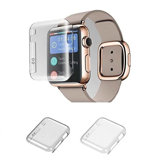 big sale c415f cf687 Apple Watch Series 2 42MM Case, Monoy 2-Pack (Clear+Grey) Slim Clear 2nd PC  Hard Screen Protector for iwatch Series 2 42mm 2016 (PC Hard Case)