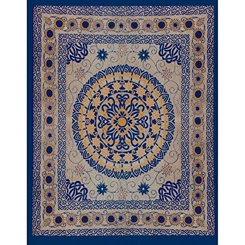 UPC 670711142933, Celtic Flowers Circle Blue Full Tapestry