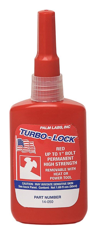 Turbo-Lock 14-050 Red Permanent Threadlocker Series 14 - Equivalent to Loctite 271. 50ml Bottles - Case of 10