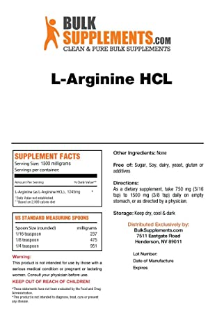 BulkSupplements L-Arginine HCL Powder 5 Kilograms