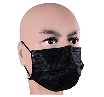 Dust Face Breathable Mask 4 Packing black Disposable 50pcs Medical Independent Earloop Anti Layer Non-woven 1 Surgical With Box Mouth