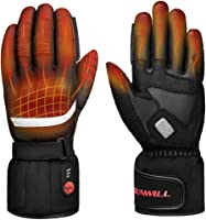 Professional Heated Motorcycle Gloves,Electric Rechargable Battery Gloves for Men Women,Winter Waterproof Riding Ski...